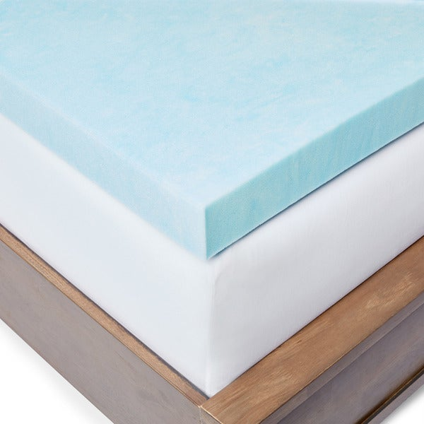 slumber solutions 3inch gel memory foam mattress topper with cover free shipping today