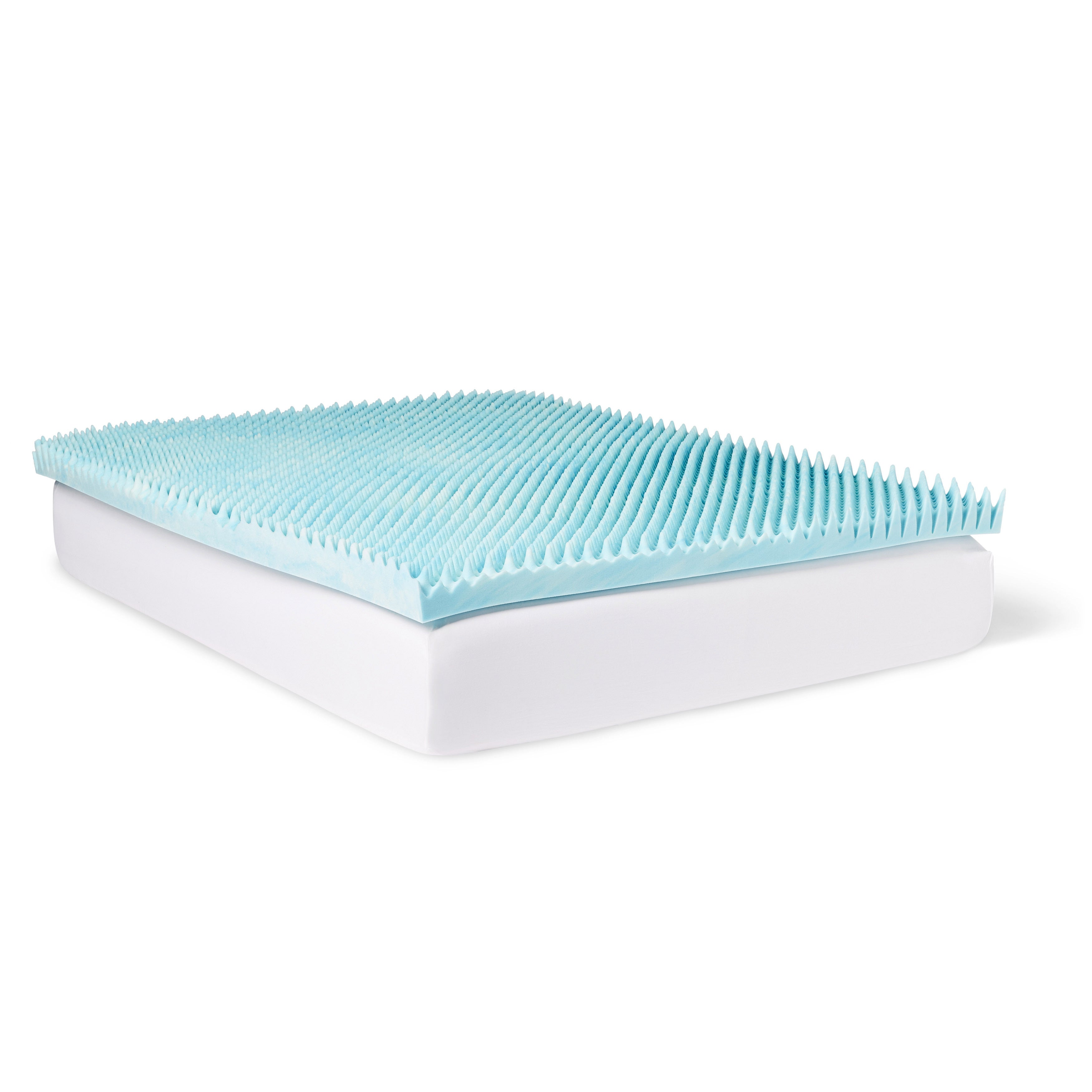 Slumber Pet Gel Highloft 4-inch Memory Foam Mattress Topp...