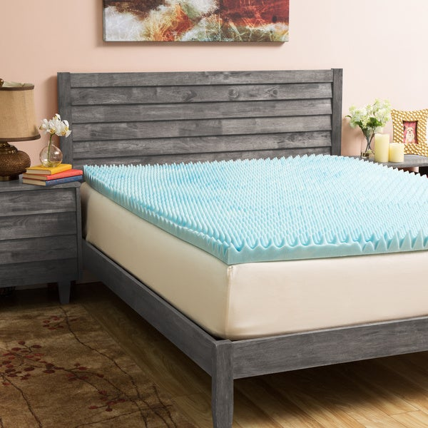 Slumber Solutions Gel Highloft 3-inch Memory Foam Mattress Topper with Cover