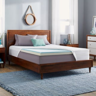 Slumber Solutions Gel Select 3-inch Memory Foam Mattress Topper with Cover (5 options available)