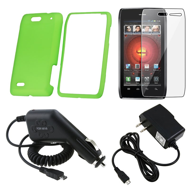 INSTEN Case Cover/ Screen Protector/ Travel/ Car Charger for Motorola Droid 4 XT894