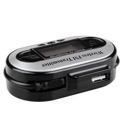 INSTEN Black All-channel Universal FM Transmitter with USB Port