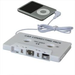 INSTEN White Universal Car Audio Cassette Adapter - Thumbnail 1