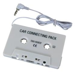 INSTEN White Universal Car Audio Cassette Adapter