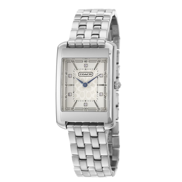 Coach Men's Movado Collection White Dial Stainless Steel Watch