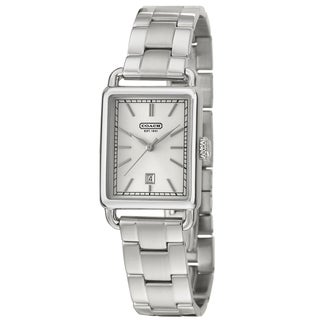 Coach Hamptons Men's Silver Dial Stainless Steel Watch