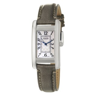Coach Lexington Women's White Mother of Pearl Dial Leather Watch