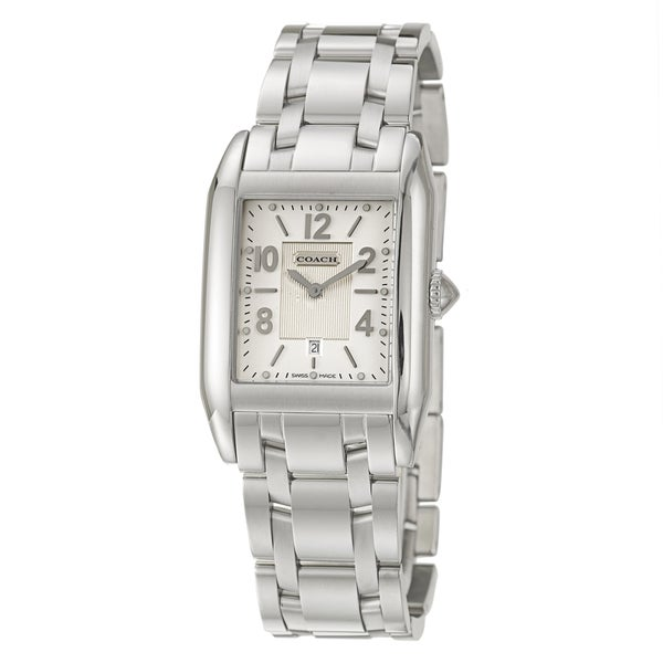 Coach Carlyle Men's Silver Dial Stainless Steel Watch