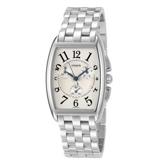 Coach Morgan Men's Silver Dial Stainless Steel Chronograph Watch