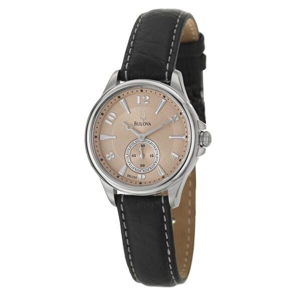 Bulova Women's 96L135 Adventurer Champagne Dial Leather Watch