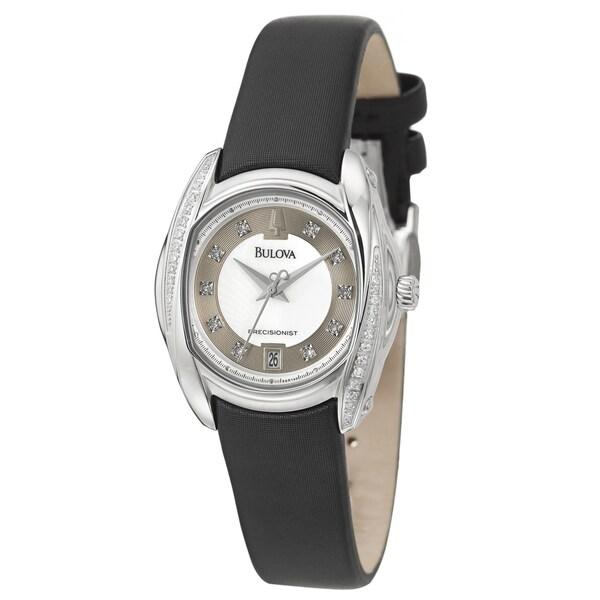 Bulova Women's Precisionist Satin Over Leather Watch