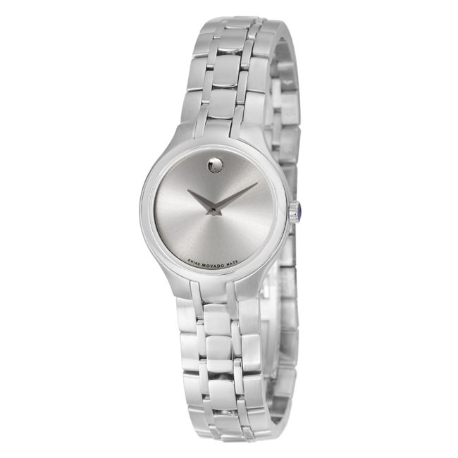 Movado Women's 0606451 'Movado Collection' Silver Dial Stainless Steel Watch