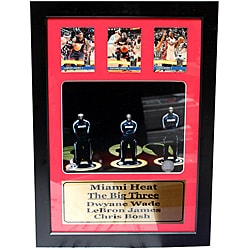 Miami Heat Big 3 12x18 Three Card Frame