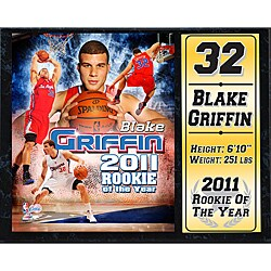 Los Angeles Clippers Blake Griffin 'Rookie of the Year' Stat Plaque