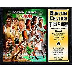 Boston Celtics 'Then and Now' Stat Plaque