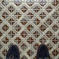 SomerTile 11.75x11.75-inch Castle Henna Porcelain Mosaic Floor and Wall Tile (10 tiles/9.79 sqft.)