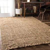 Havenside Home Caladesi Handmade Braided Natural Jute Reversible Area Rug (8'6 x 11'6) - 8'6 x 11'7