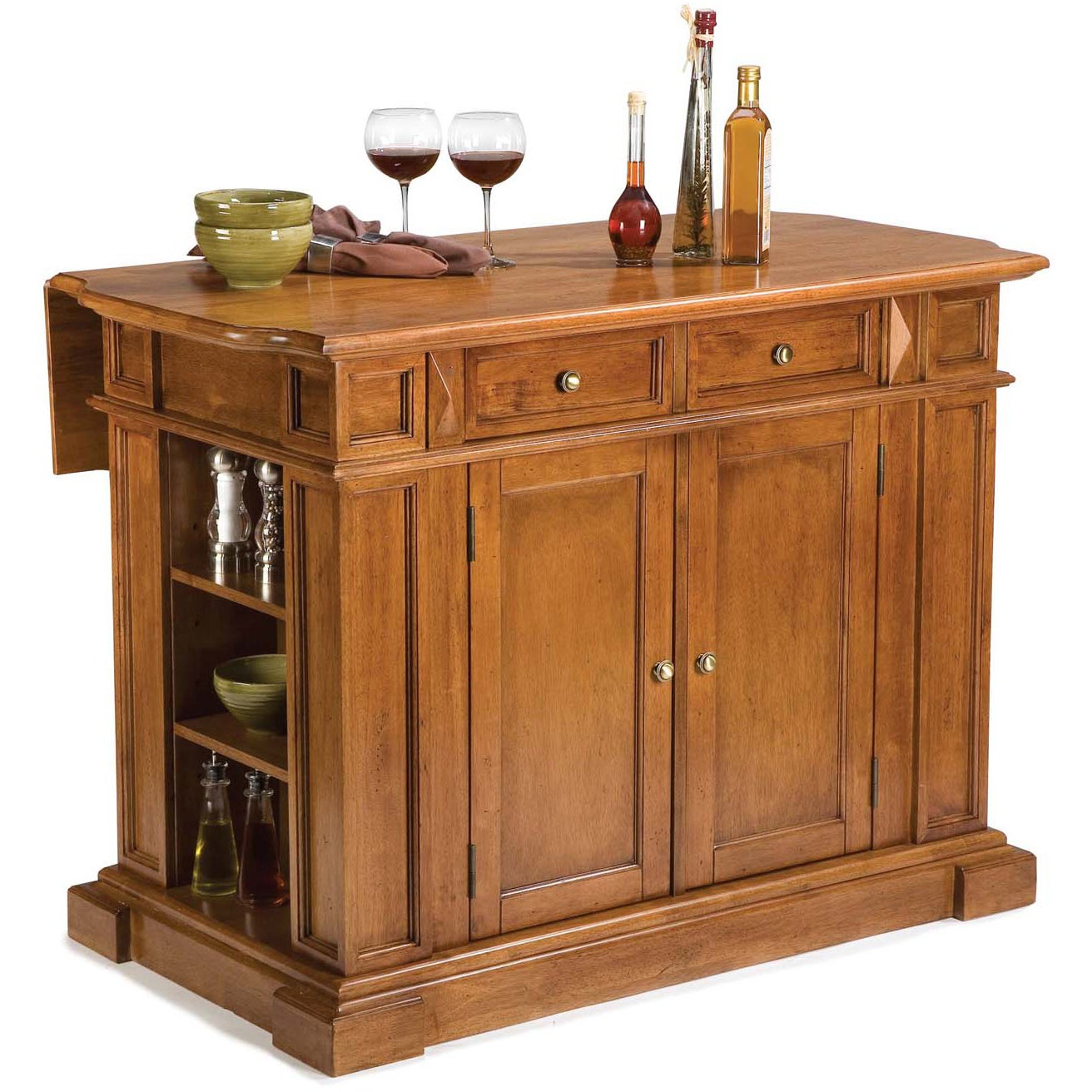 Shop Gracewood Hollow Capote Distressed Oak Kitchen Island Free - Overstock kitchen island
