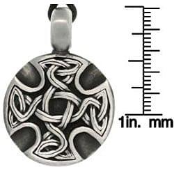 Carolina Glamour Collection Pewter Unisex Celtic Medallion Adjustable Cord Necklace