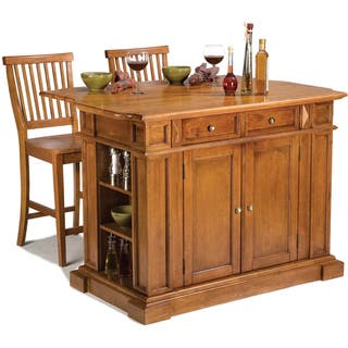 Kitchen islands for less overstock gracewood hollow capote distressed oak kitchen island and stools set workwithnaturefo