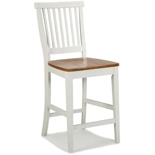 White Distressed Oak Bar Stool by Home Styles