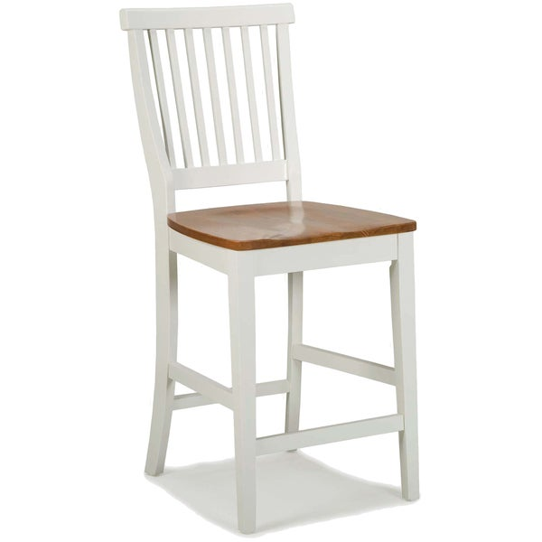 White Distressed Oak Bar Stool By Home Styles Free