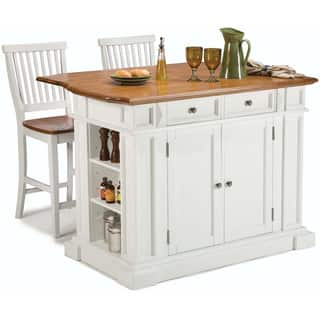 gracewood hollow ruddick white distressed oak kitchen island and bar stools - Kitchen Table With Bar Stools