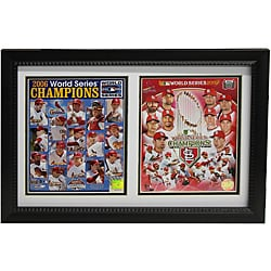 St. Louis Cardinals 2011/2006 World Series Champion Double Frame