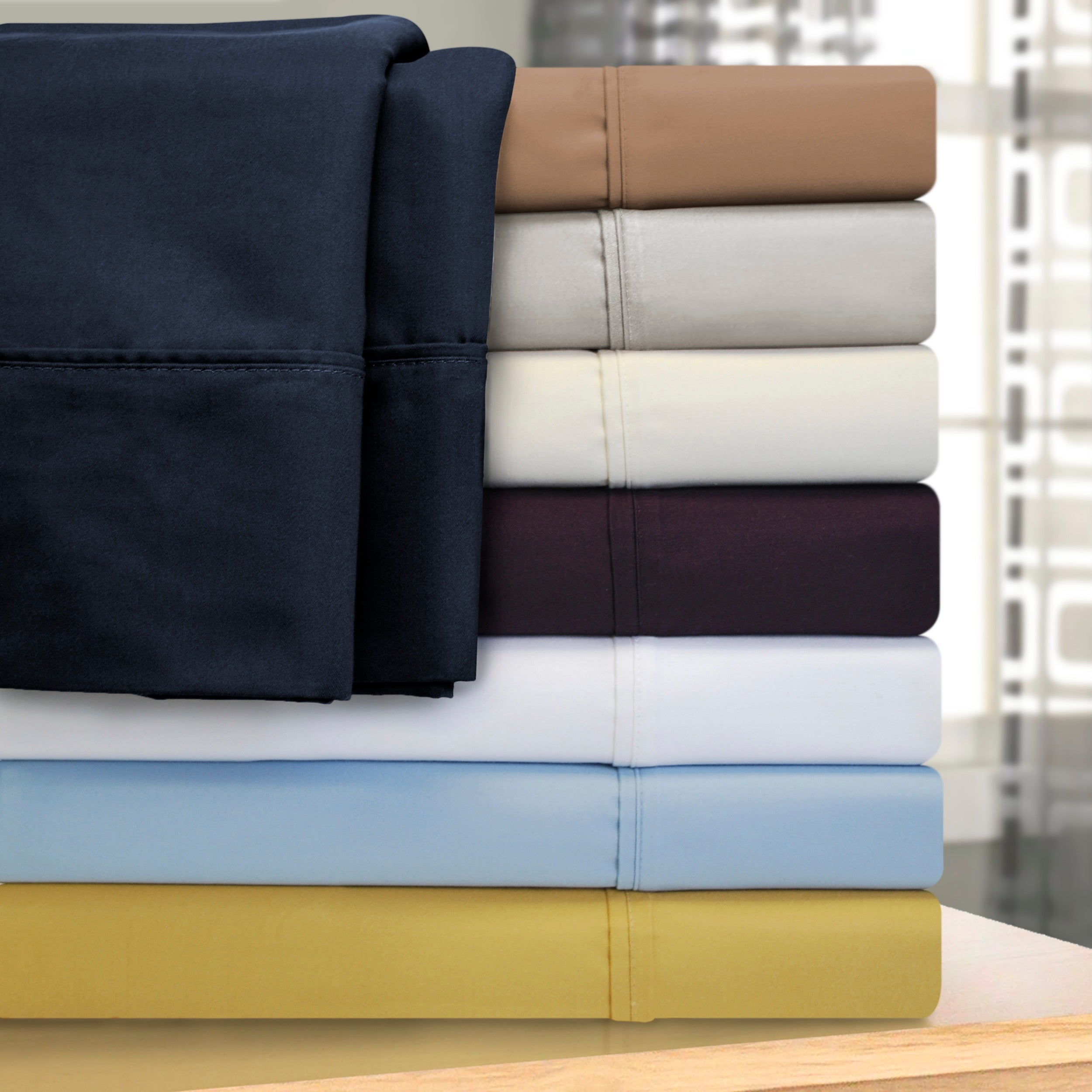 5 Pc Split Sheet Set Extra Deep Pocket Egyptian Cotton 1000 Thread Count King
