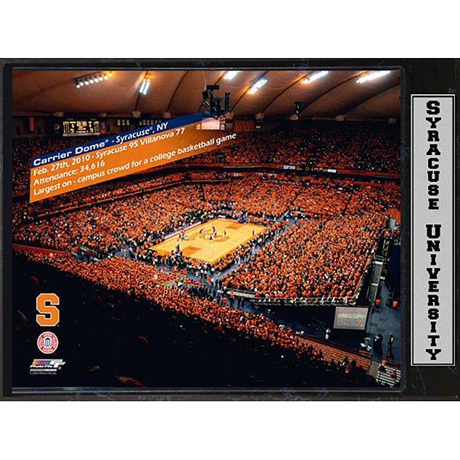 Syracuse University Carrier Dome Stat Plaque 2