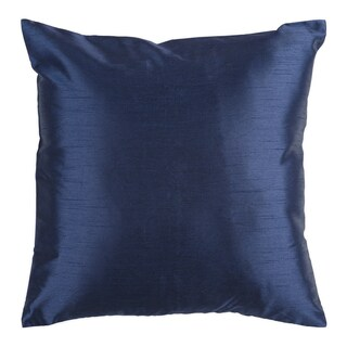Decorative Chic Removable Cover 18-inch Square Solid Throw Pillow