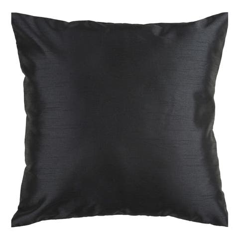 Decorative Chic Removable Cover 18 Inch Square Solid Throw Pillow
