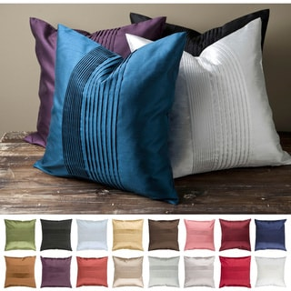 Pleated Square 22-inch Decorative Pillow
