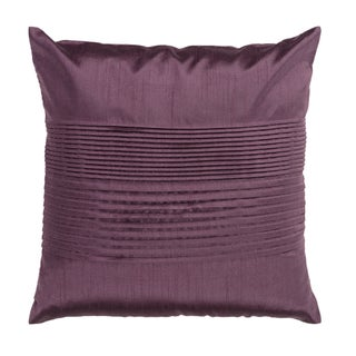 Decorative Hind 18-inch Square Pillow (Option: Prune Purple)