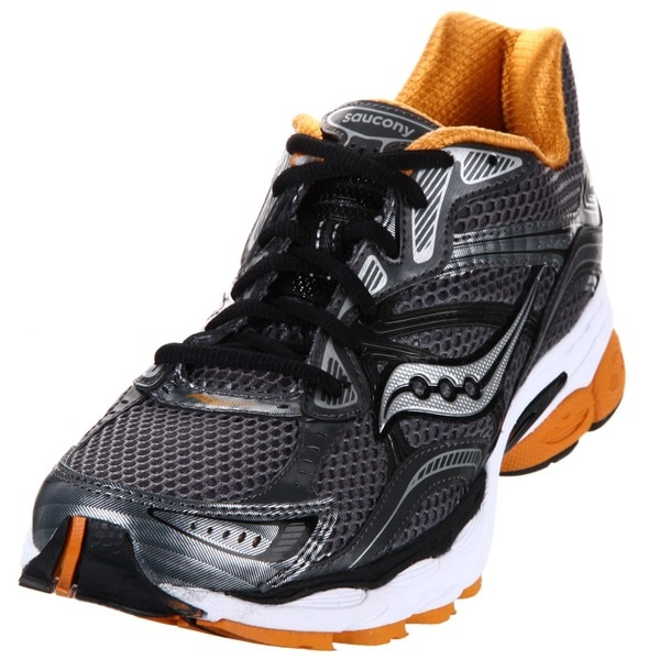 Saucony Men's 'ProGrid Omni 10' Grey/Orange Running Shoes