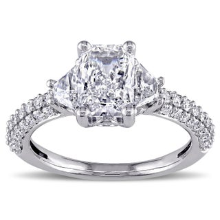 Miadora Signature Collection 14k White Gold 2 1/3ct TDW Certified Radiant Diamond Ring (H, VS2, GIA) (5 options available)