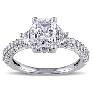 Miadora Signature Collection 14k White Gold 2 1/3ct TDW Certified Radiant Diamond Ring (H, VS2, GIA)|https://ak1.ostkcdn.com/images/products/6624675/P14191269.jpg?impolicy=medium