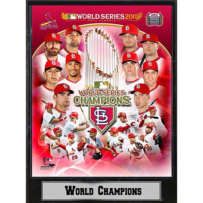 St. Louis Cardinals 2011 World Series Champion Plaque