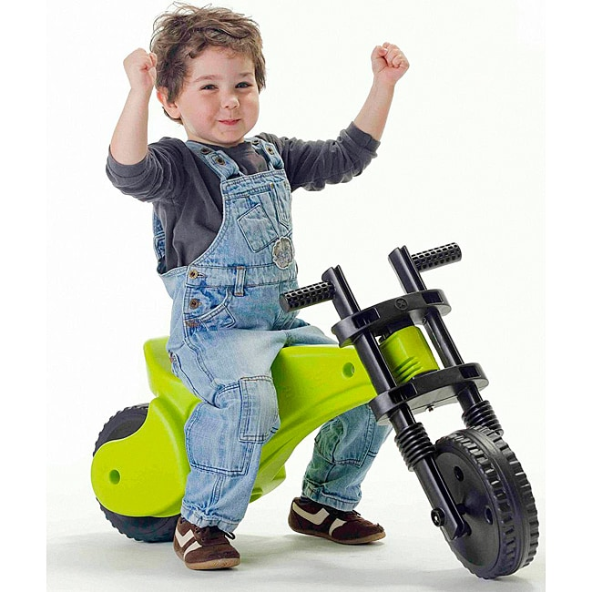 Ybike Green-and-black Injection-molded Plastic Toddler Balance Bike - Thumbnail 0