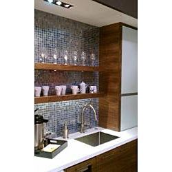 Viridian 'Pearl Ocean' 1-inch Recycled Glass Tiles (pack 15) - Thumbnail 2