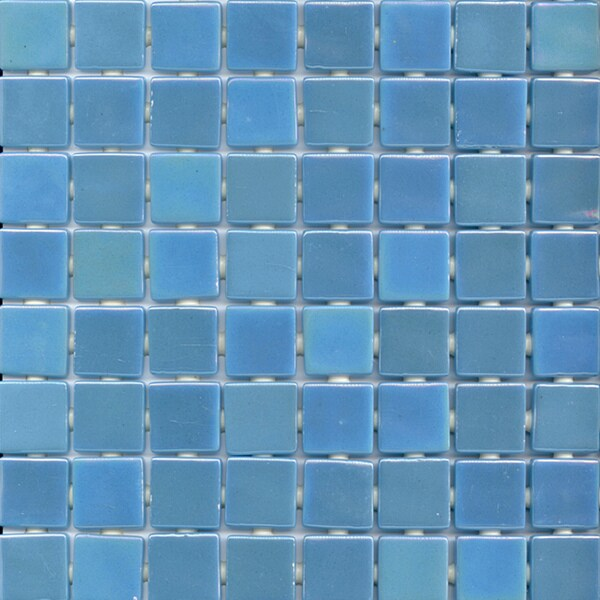 Viridian Pearl Blue Mirage 1-inch Recycled Glass Tiles