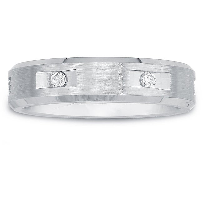 Cobalt Ladies1/10ct TDW Diamond 5-mm Band  By Ever One (H-I, I2)