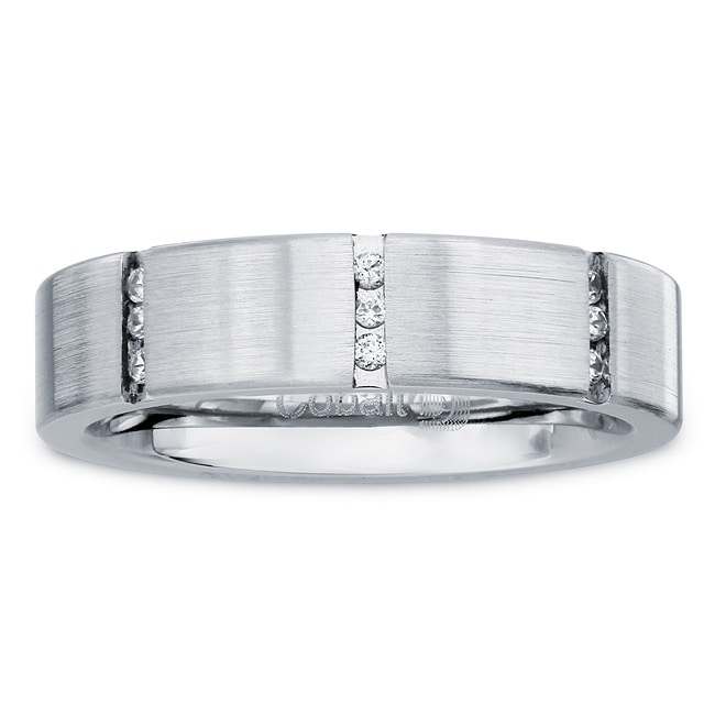 Cobalt Women's 1/6ct TDW Diamond 5-mm Band  By Ever One (H-I, I2)