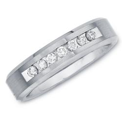 Cobalt Women's 1/5ct TDW Diamond 5-mm Band  By Ever One (H-I, I2)