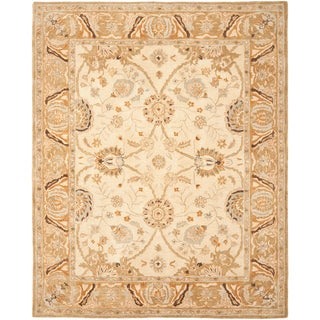 Safavieh Hand-made Ancestry Silver/ Light Brown Wool Rug (9'6 x 13'6)