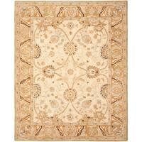 "Safavieh Handmade Anatolia Oriental Silver/ Light Brown Hand-spun Wool Rug - 9'6"" x 13'6"""