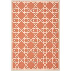 Safavieh Courtyard Geometric Trellis Terracotta/ Beige Indoor/ Outdoor Rug - 8' x 11'2 - Thumbnail 0