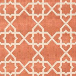 Safavieh Courtyard Geometric Trellis Terracotta/ Beige Indoor/ Outdoor Rug (9' x 12') - Thumbnail 2