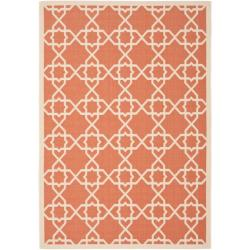 Safavieh Courtyard Geometric Trellis Terracotta/ Beige Indoor/ Outdoor Rug (9' x 12')