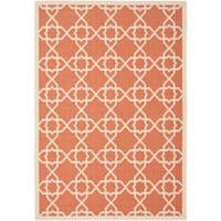 Safavieh Courtyard Geometric Trellis Terracotta/ Beige Indoor/ Outdoor Rug - 9' x 12'